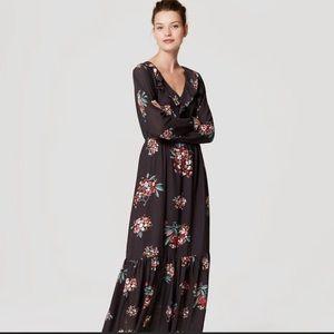 Ann Taylor LOFT petite floral maxi dress